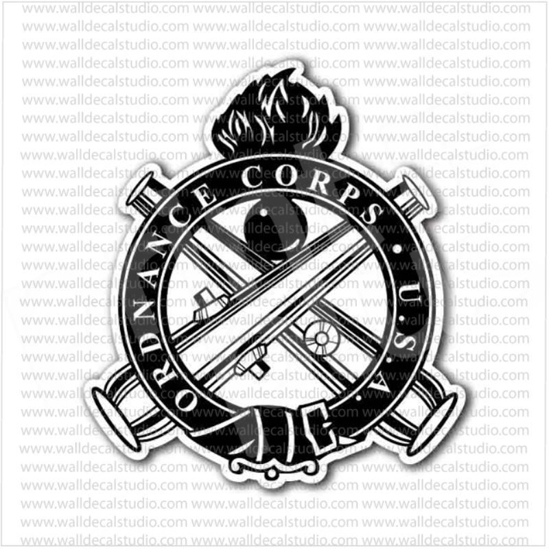 Ordnance Corps Us Army Emblem Sticker