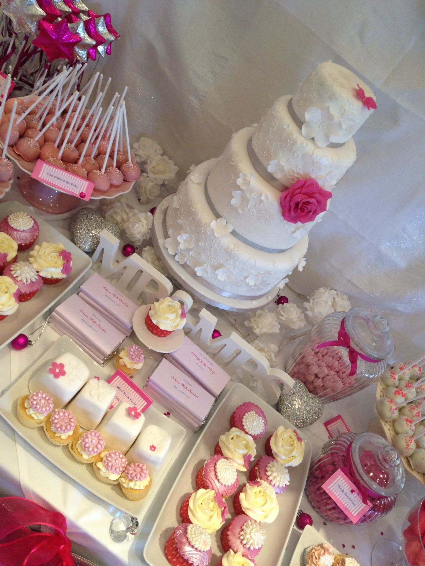 Wedding cake table decor ideas  dessart tables  Along with your dessert table we can also provide