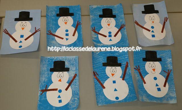 carte bonhomme de neige La maternelle de Laurène: Le bonhomme de neige | Carte noël