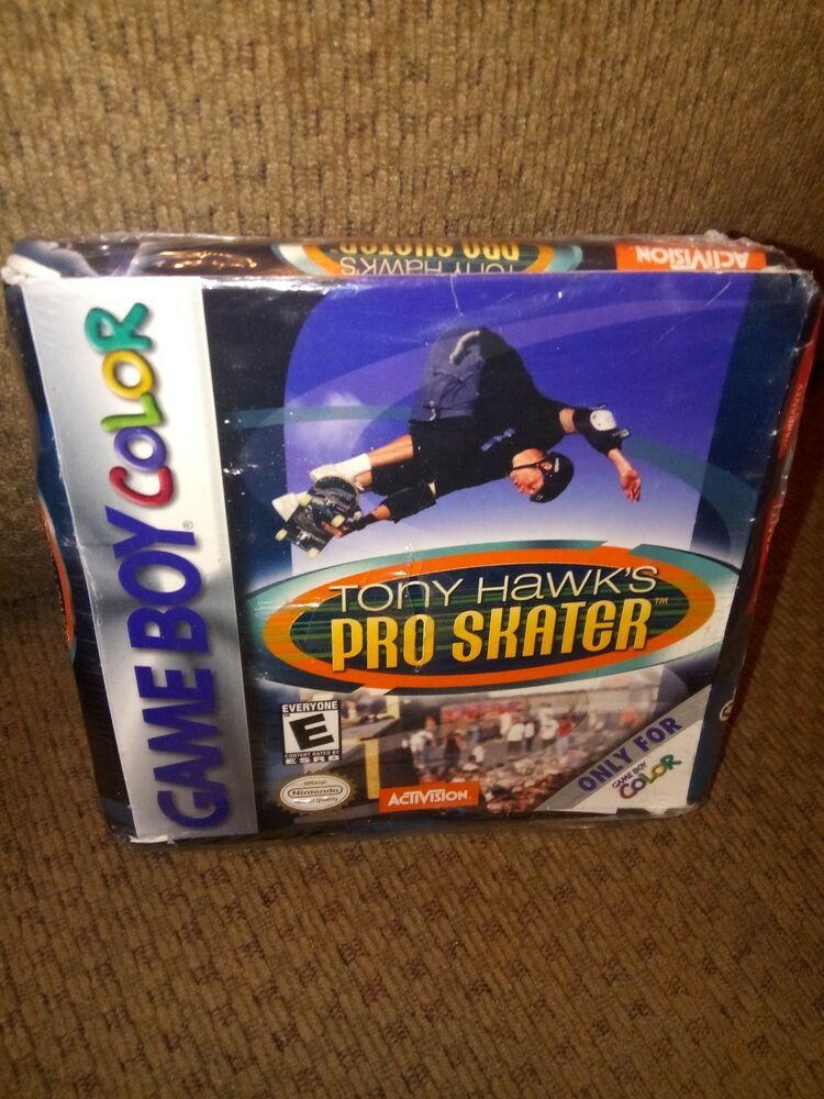 2 Gameboy Color Games Lot Gbc Gba Sp Tony Hawk S Pro Skater 1 2 Many Courses Color Games Gameboy Games Pro Skaters