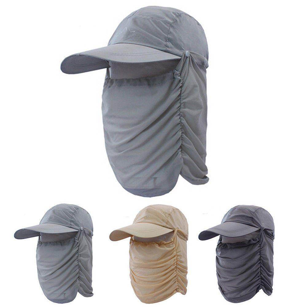340cd42f5a1 Fishing Cap Neck Face Flap Mask Cover UV Sun Protection Men Women Baseball  Hat