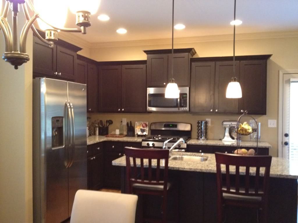 Kitchen White Spring Granite With Espresso Cabinets And Mini Photos Design Ideas Cabinets For Iphone High Quality