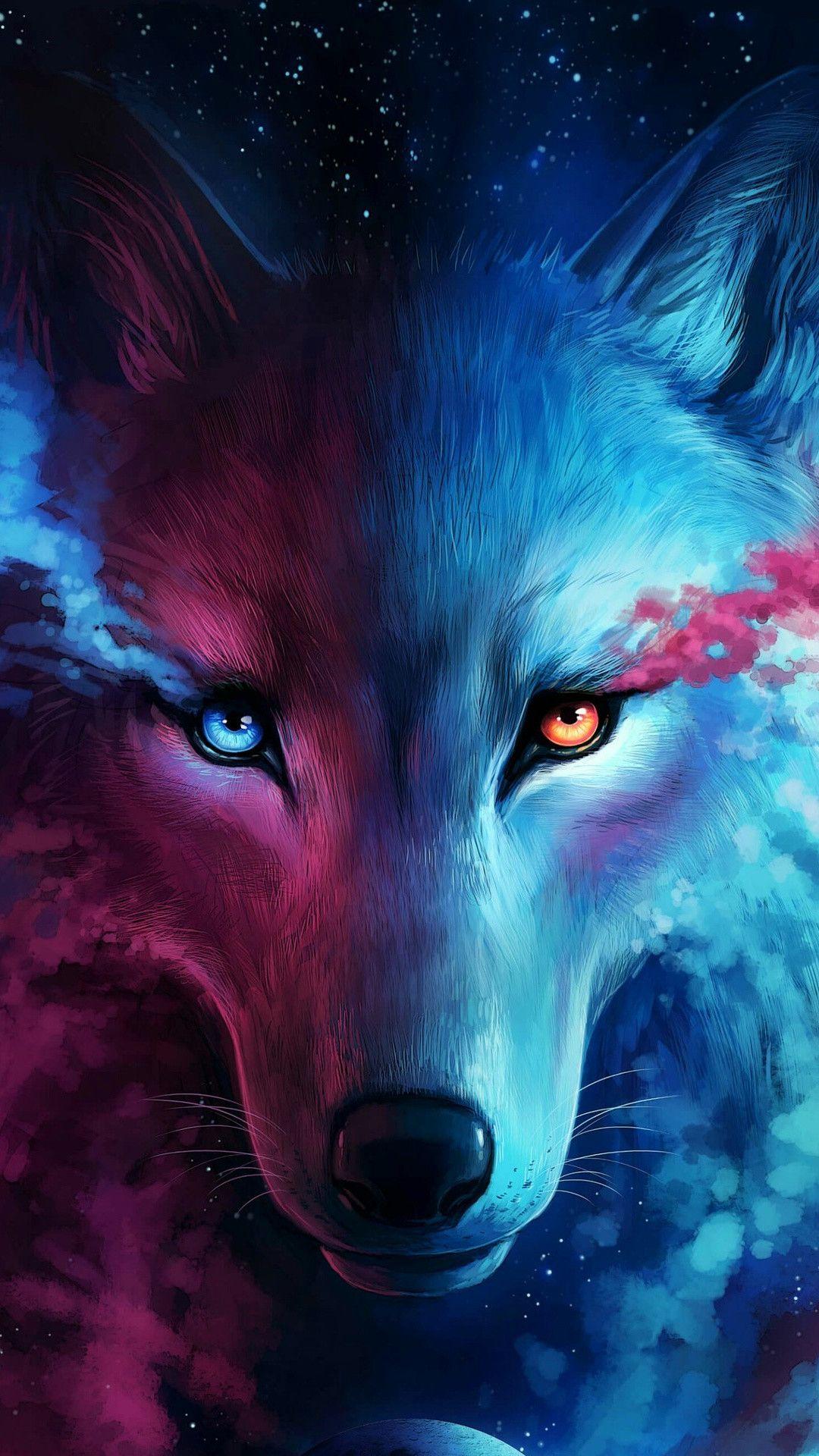 Spirit Wolf Phone Wallpaper Fantasy Wolf Wolf Background Wolf Spirit Animal
