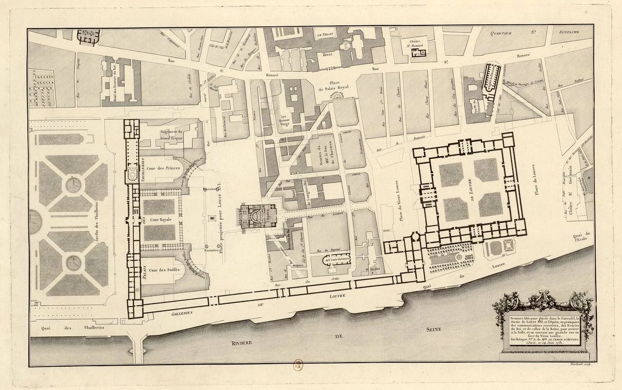 Projected Plan Of New Public Spaces And Street Patterns Around The