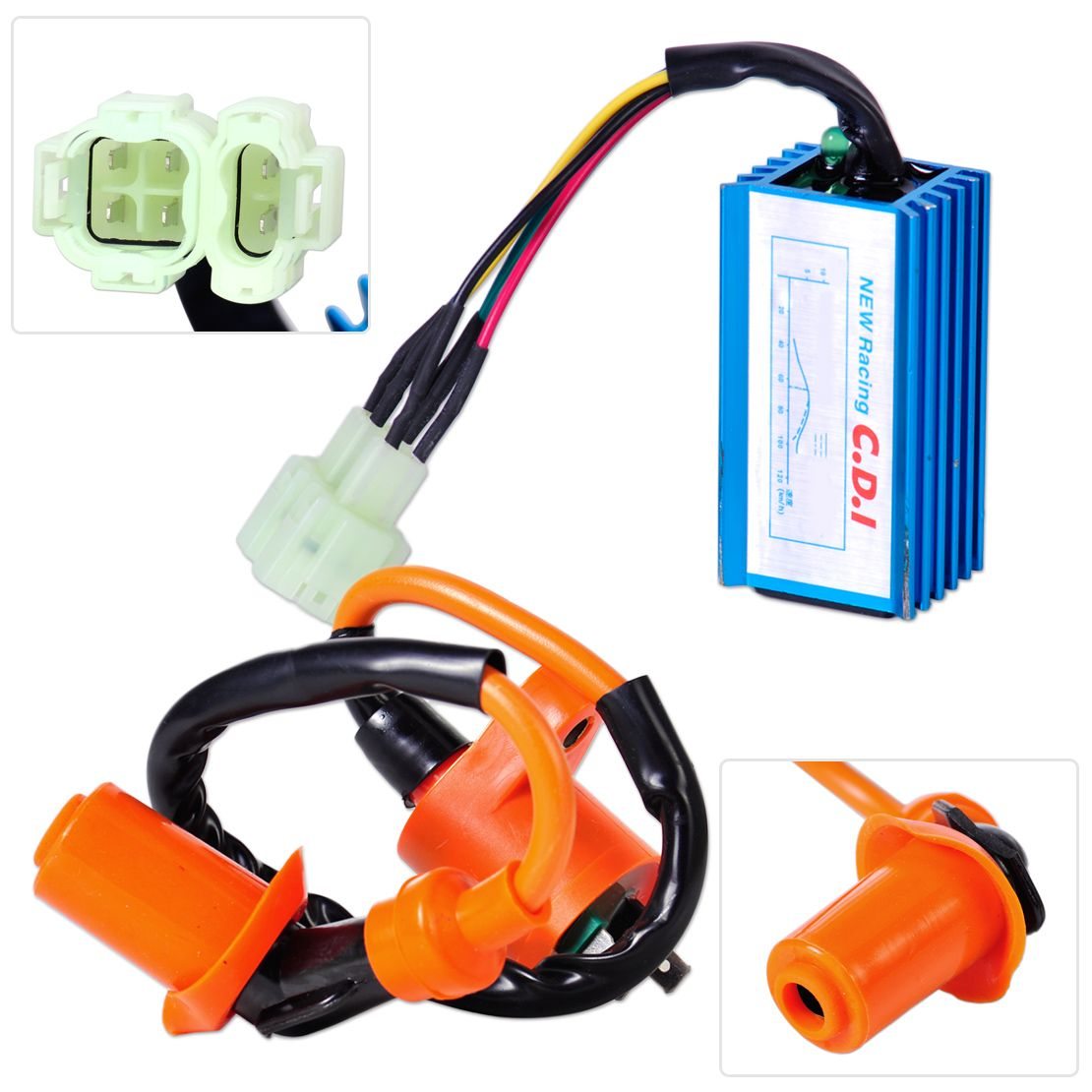 Motorcycle Racing Performance Ignition Coil + CDI Box Fit