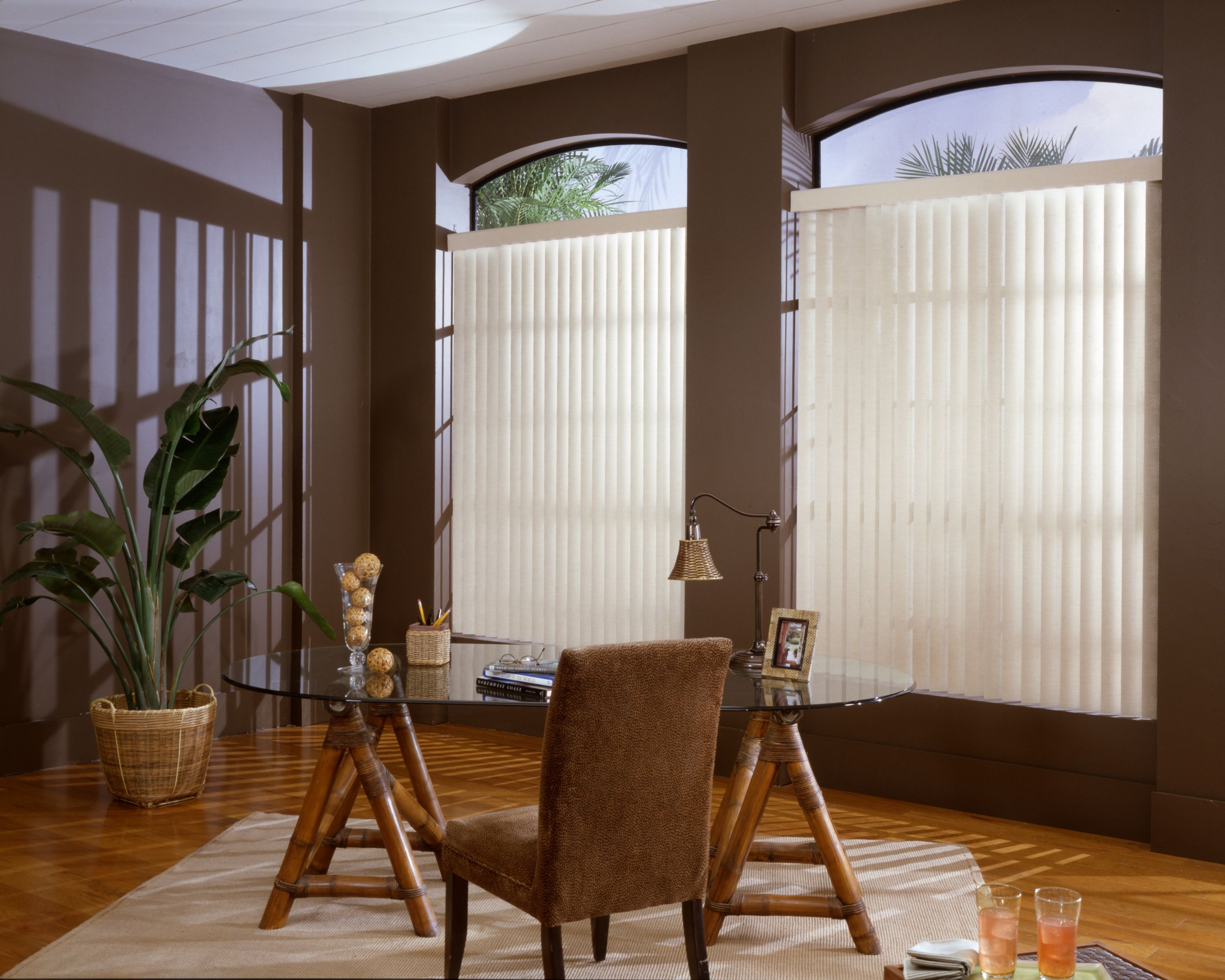 2400 #9B6330  French Doors High Window Curtains. CIY Temporary Window Covering! Need wallpaper 3ft French Doors 46653000