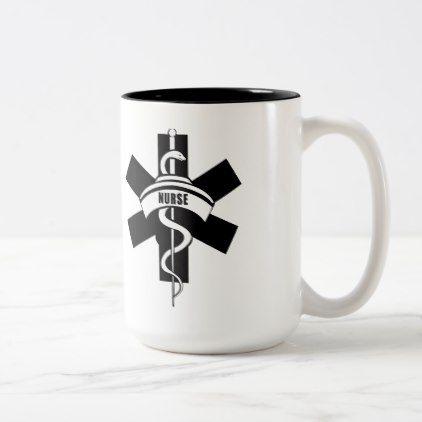 Nurses Medical Symbol Two Tone Coffee Mug Nursing Nurse Nurses
