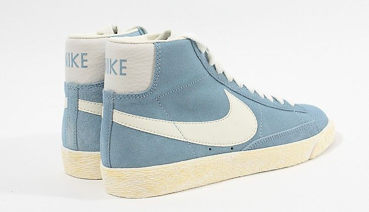 newest d26f3 95891 Special Milano   Nike   Womans Blazer Mid Suede Vintage Worn Blue   Sail  Gum   Sneakers