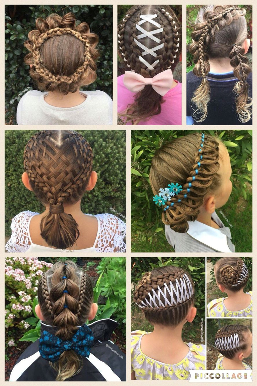 Adorable braids. Lucky little girl gets different braids every day