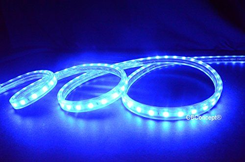 Cbconcept Ul Listed 13 Feetsuper Bright 3600 Lumen Blue Dimmable 110120v Ac Flexible Flat Led Strip Rope Light 240 Un Flexible Flats Rope Light Led Rope Lights