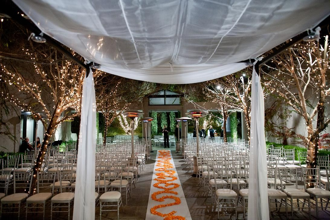 Gorgeous evening wedding ceremony at the sunset luxe hotel la