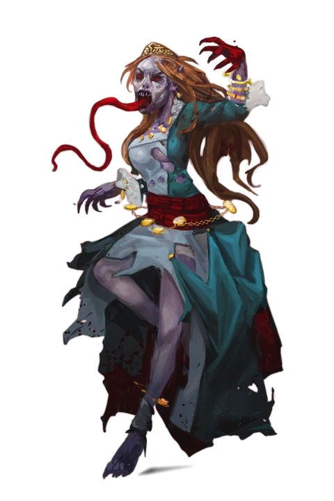 Female Ghoul - Pathfinder PFRPG DND D&D 3 5 5E 5th ed d20