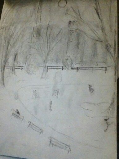 A sketch I did a while back of what I was painting in art class at the time (from memory :P) - Katie M.
