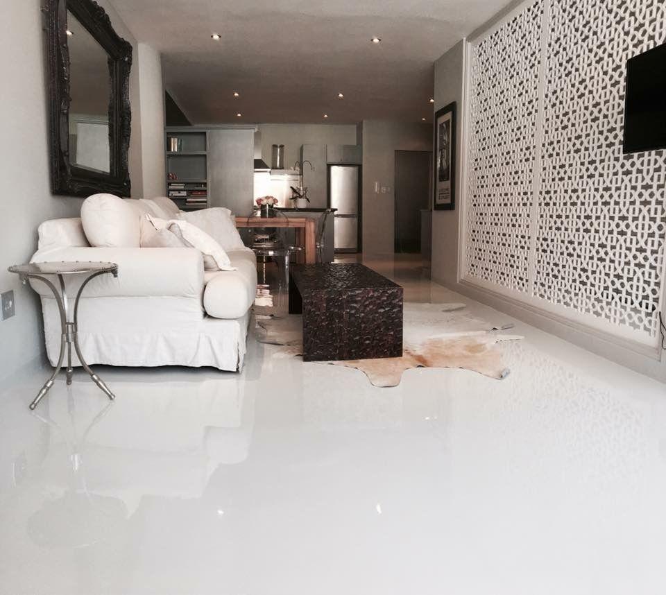 White Epoxy Floor Residential White Epoxy Floor Epoxy Floor Flooring Living room epoxy floors in homes
