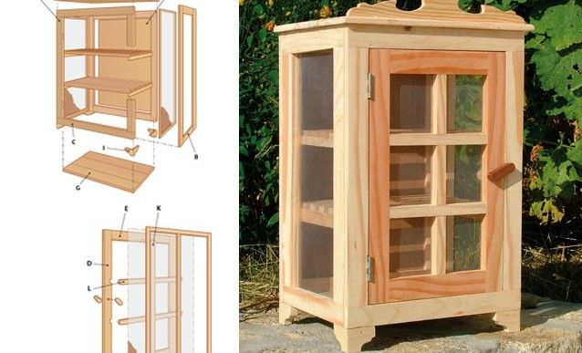 Fabriquer un garde-manger en sapin Pallet crafts, Wood working and