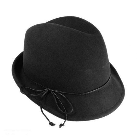 Leather Bow Fedora Hat available at  VillageHatShop 00e0115c402