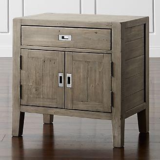 Morris Ash Grey Nightstand Reviews Crate And Barrel Gray