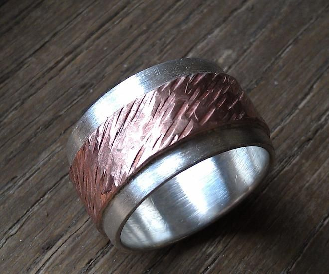 Silver & Copper Ring created by Bob