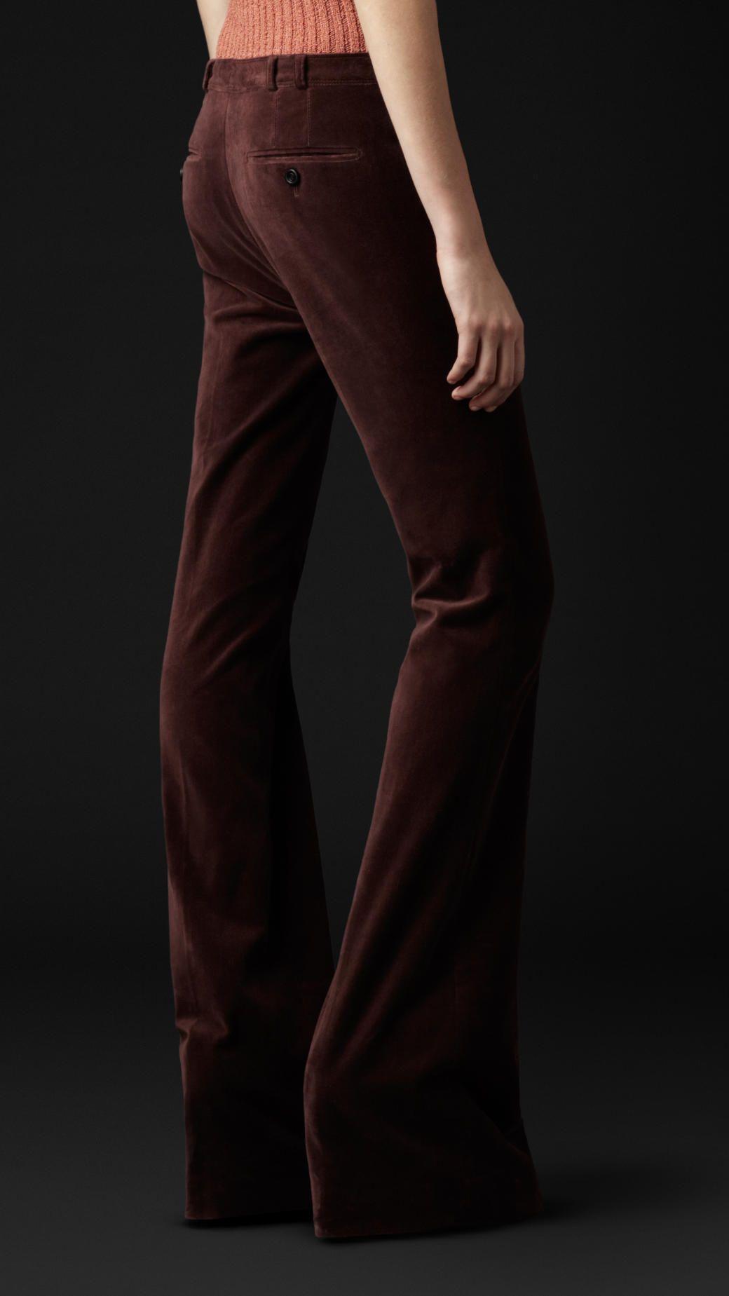 Velvet Flare Trousers | Burberry
