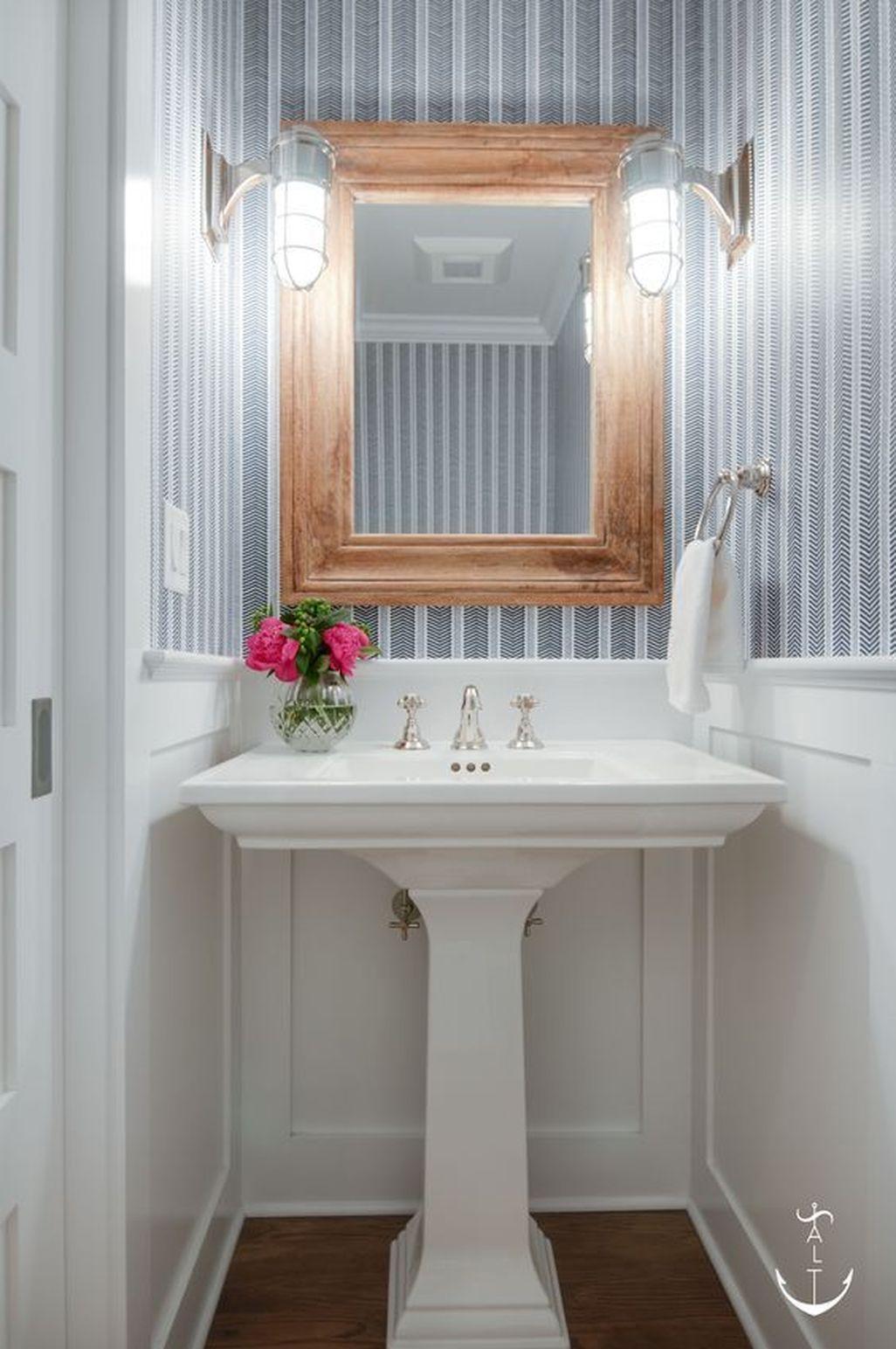 Pin By Pratamadan Ramadhan On Bathroom Decoration Simple Powder Room Small Bathroom Remodel Cost Bathroom Remodel Shower