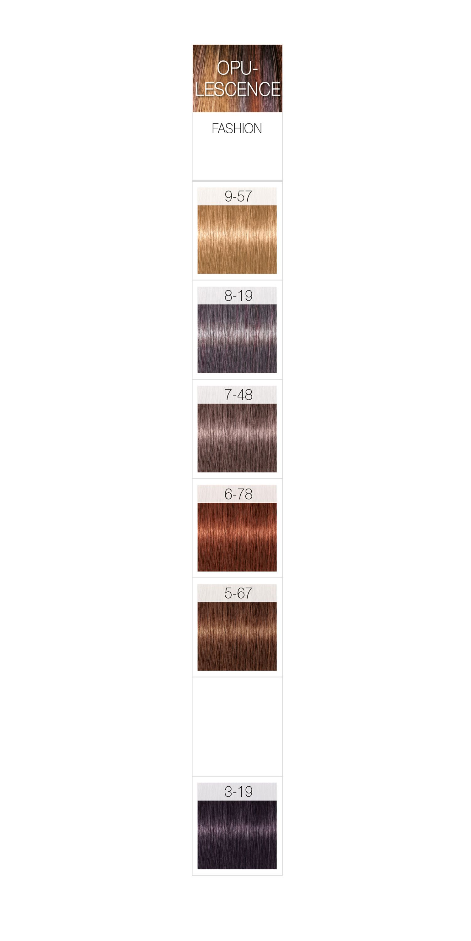 Schwarzkopf Professional Igora Royal Opulescence Permanent Color Creme Color Chart Schwarzkopf Hair Color Schwarzkopf Hair Color Chart Hair Color Chart