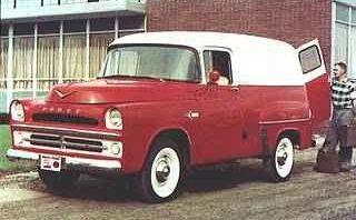 '57 DODGE D-1OO Panel truck