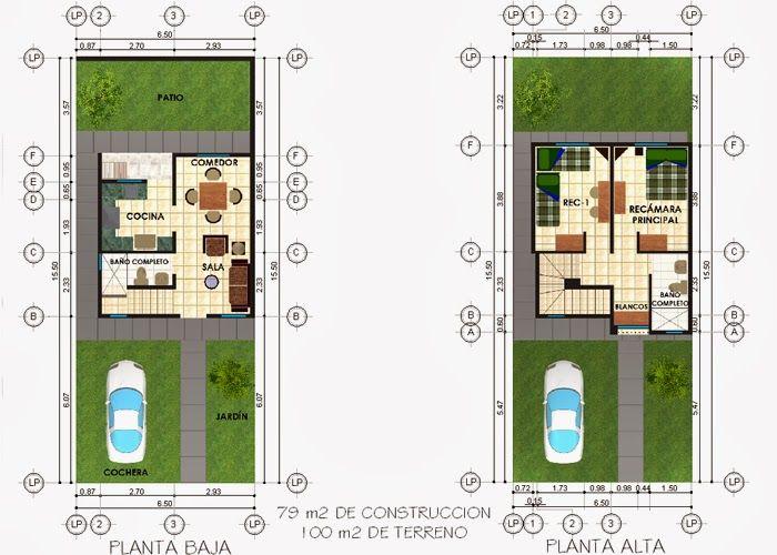Plantas arquitect nicas para terreno de 100 metros for Diseno de casa de 180 metros cuadrados