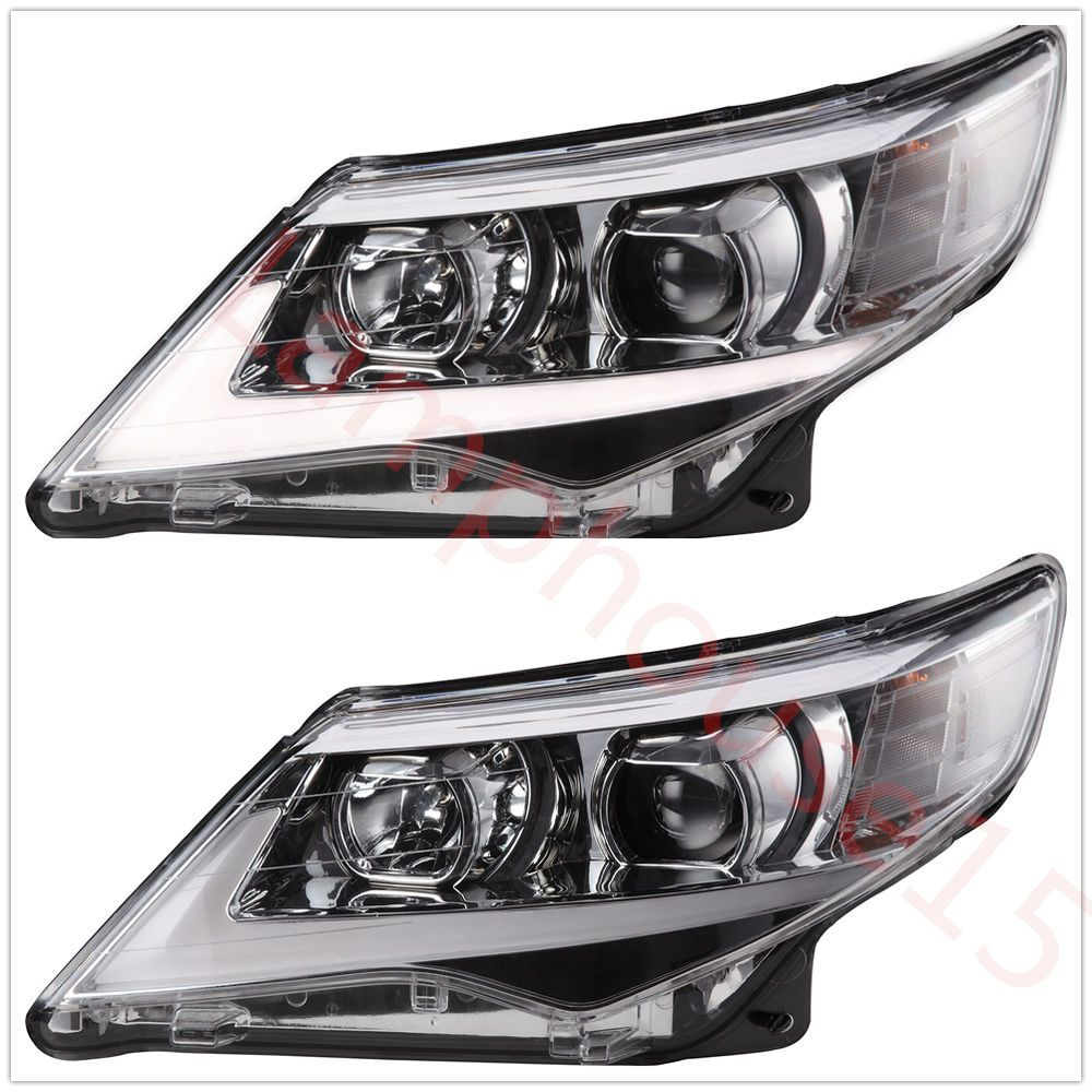 Headlights for 2012 2013 2014 toyota camry projector drl new led lightbar