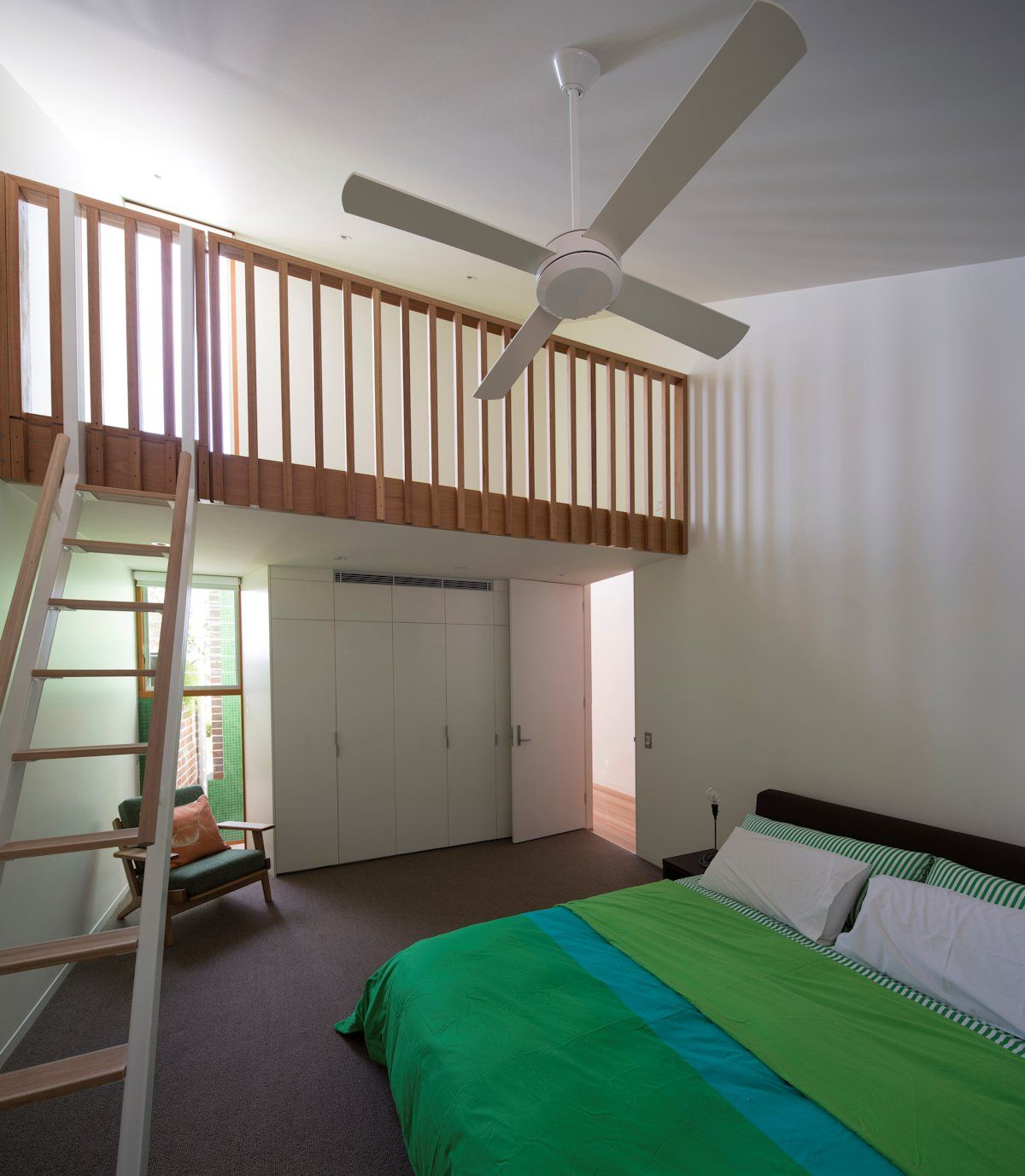 High Quality Bedroom With Mezzanine Two Storey House Split In Two By Carterwilliamson  Architects