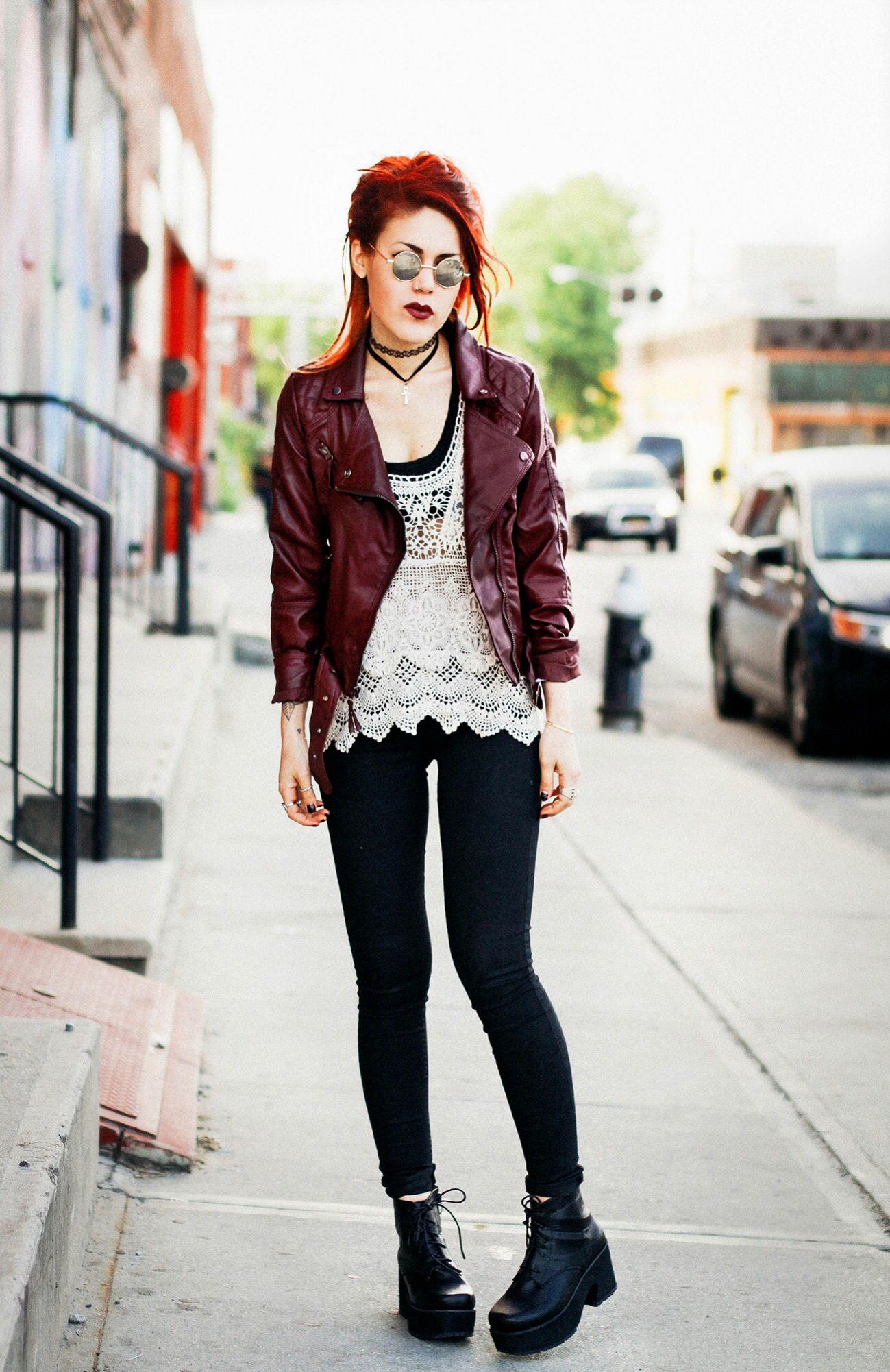 #luana #blogger #grunge #style #fashion #hair #biuri | Trajes grunge. Estilo grunge. Trajes