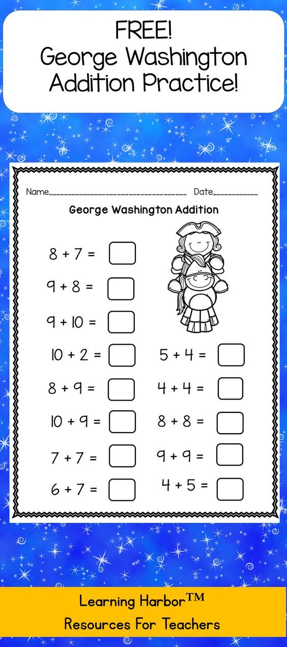 George Washington math resource is great for bell ringers, morning ...