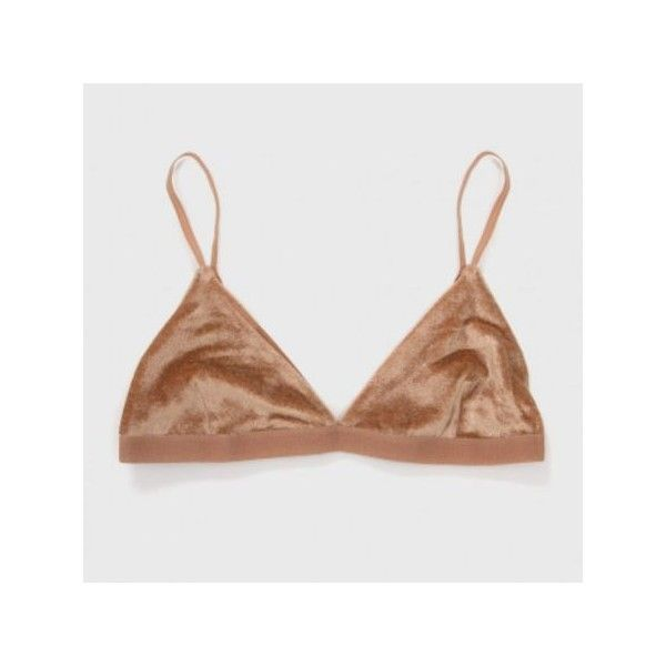 8d5eb49029ca Baserange Mississipi Bra Velours - Nude 3 (£42) ❤ liked on Polyvore  featuring