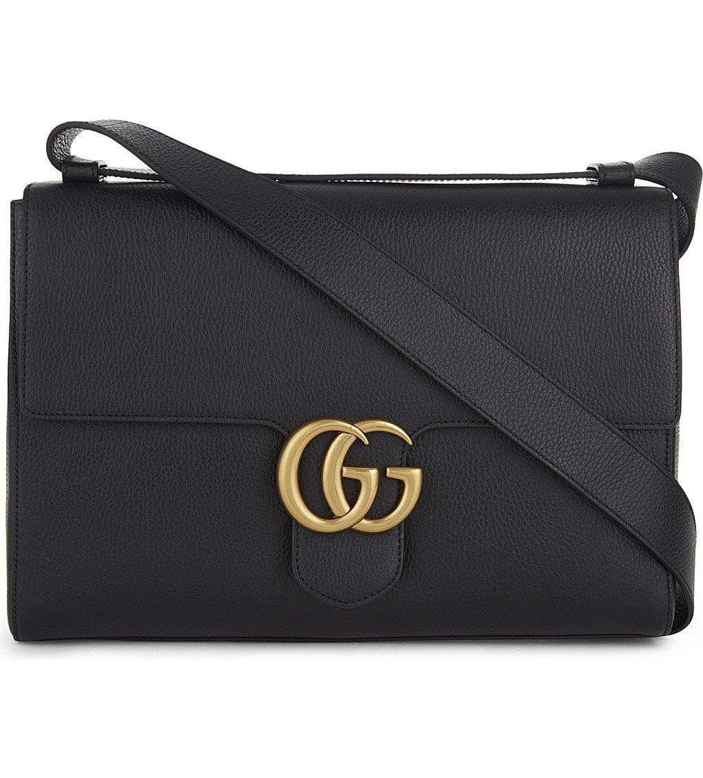 gucci gg marmont leather messenger bag 1 bags messenger pinterest leather. Black Bedroom Furniture Sets. Home Design Ideas
