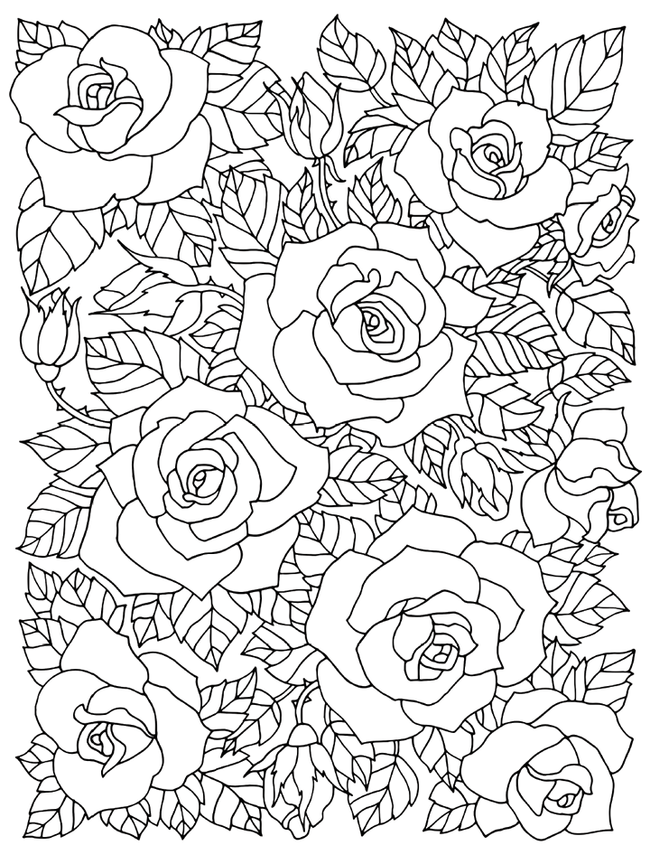 Flower Collage Coloring Page : SALES PAGE Coloring Book Cafe flower coloring Pinterest ??????????????????