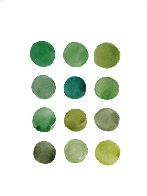 green watercolor dots hue Green Pinterest Watercolor - qualität nolte küchen