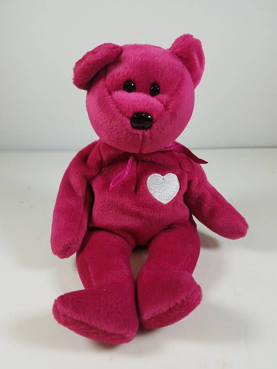 4 Different Beanie Babies Wallace Gobbles Valentina Hearts-A-Plenty No Hang  Tags Just Tush Tag 68029bccdf6c
