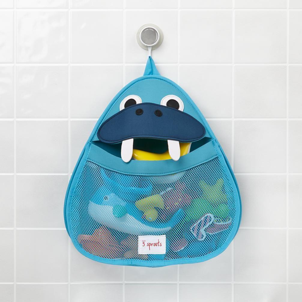 Walrus Stick On Bath Toy Caddy | The Land of Nod - $19.95 each (+ ...