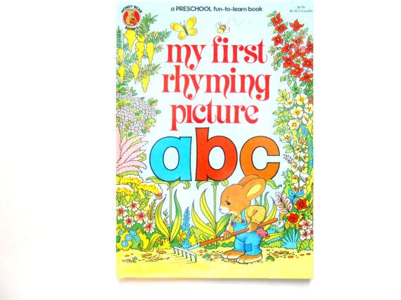 My First Rhyming Picture ABC a Vintage by lizandjaybooksnmore