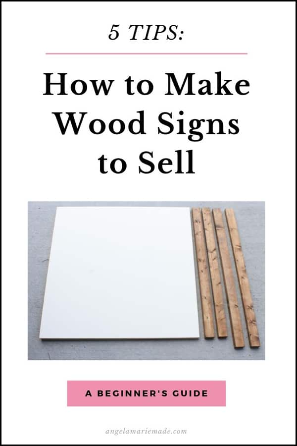 5 Tips on how to make wooden signs to sell