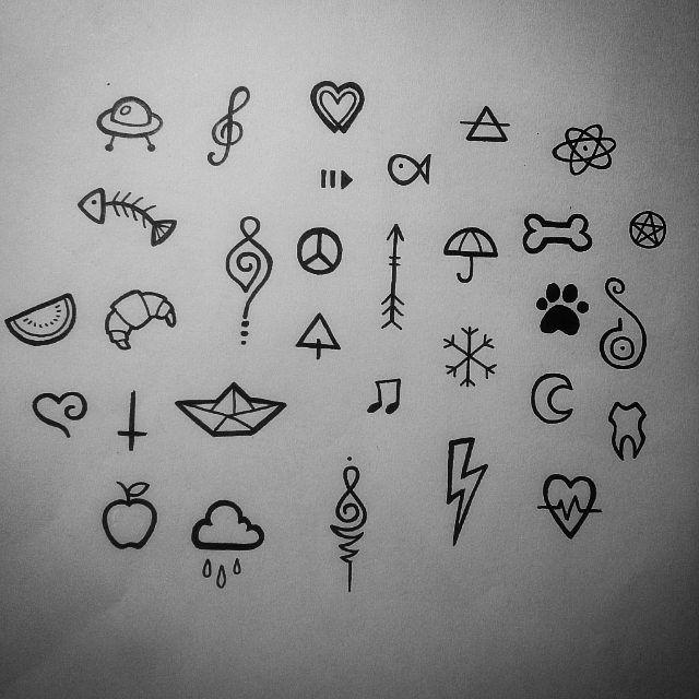 Мини рисунки татуировок ручкой пружина