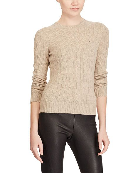 Cable-Knit Cashmere Sweater - Cashmere  Sweaters - RalphLauren.com