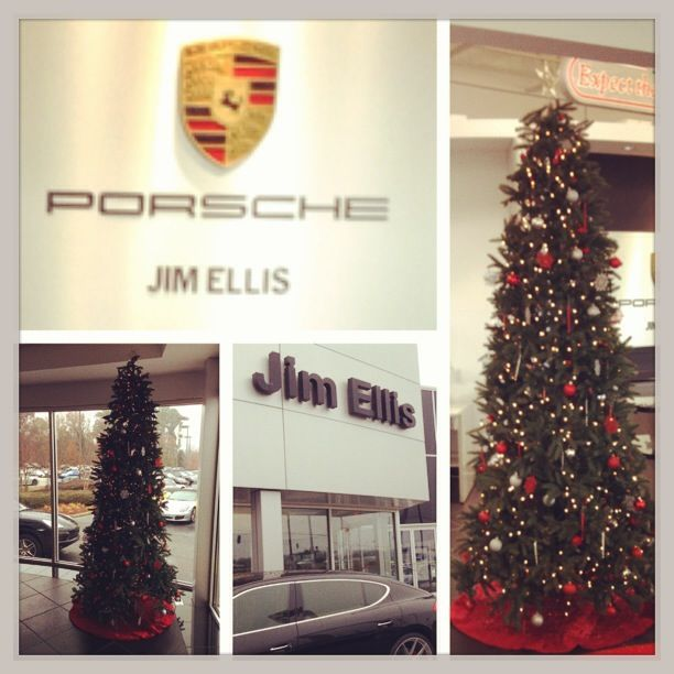 we did two trees for jim ellis porsche atlanta rental christmas tree extended 9ft red gold
