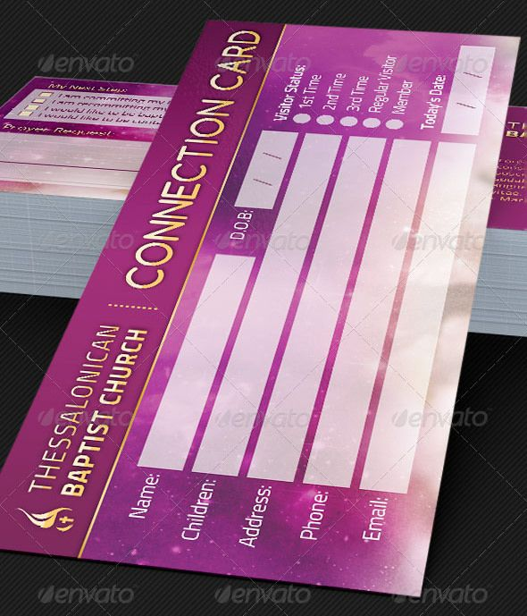 Connection Card Template for Churches | Pinterest | Card templates ...