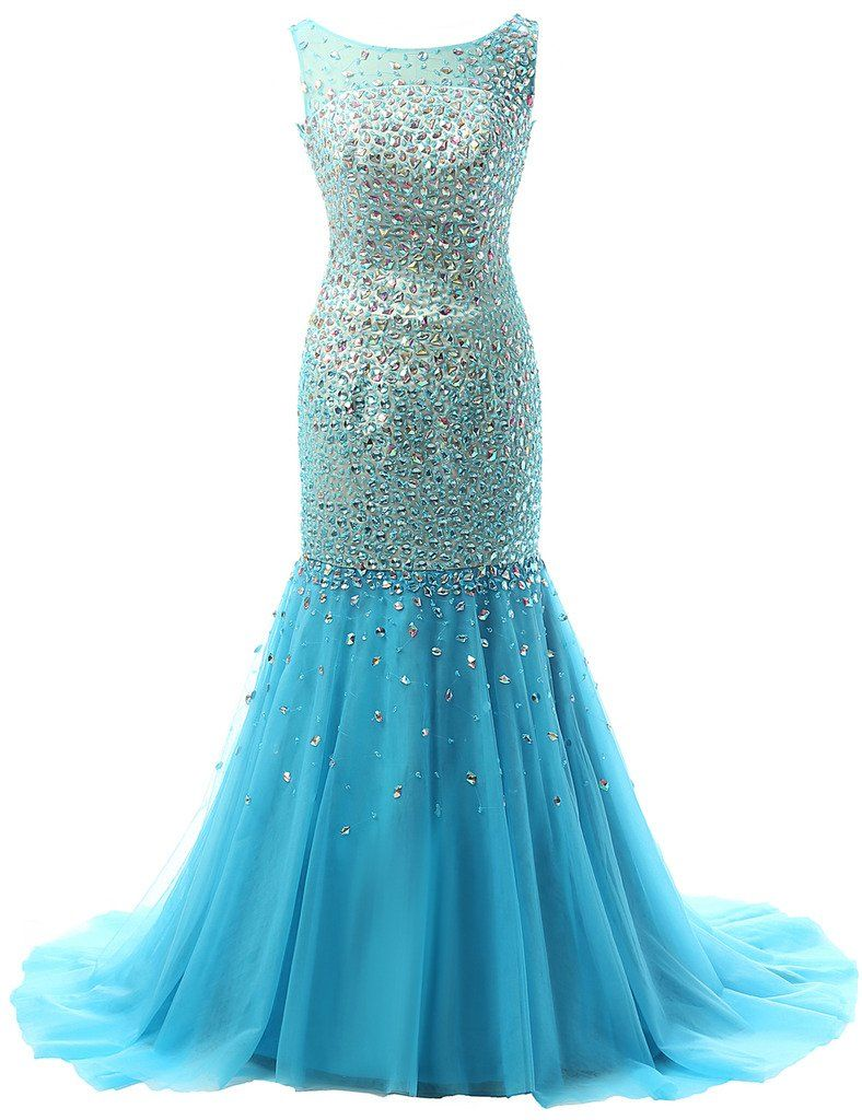 JAEDEN Crystal Evening Dresses Sexy Long Backless Prom Dress Gown ...