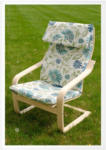 Recover Ikea Poang Chair Do It Yourself Advice Blog This Is A Great Step By Step Tutorial 2yds Of 54 Fauteuil Ikea Housse Pour Fauteuil Housse Fauteuil Ikea