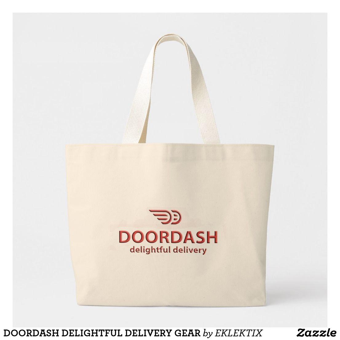 Doordash delightful delivery gear large tote bag large