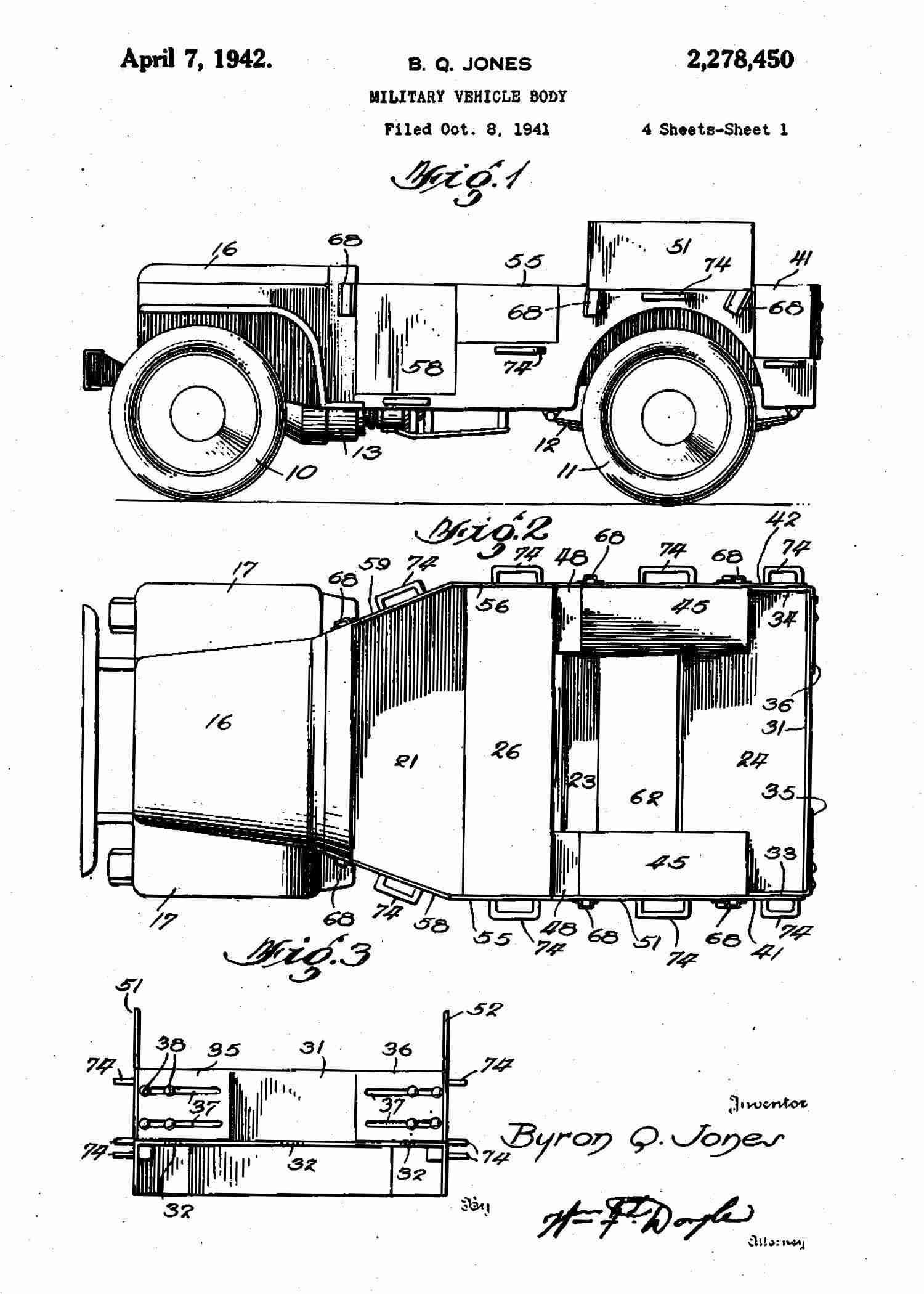 Retro Military Willys M38 Jeep