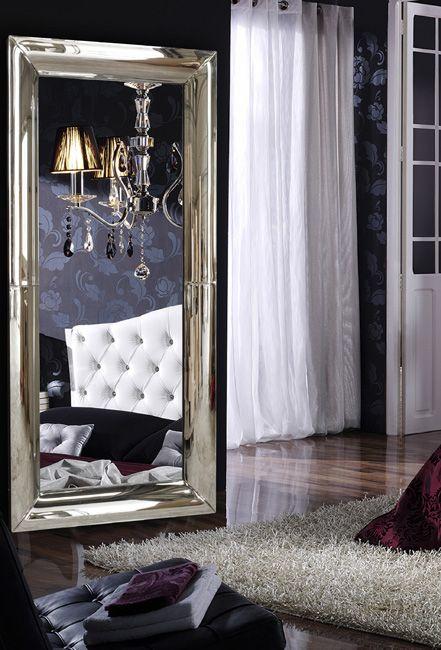 Espejo de dise o moderno espejos de pared espejos for Espejos para dormitorios modernos