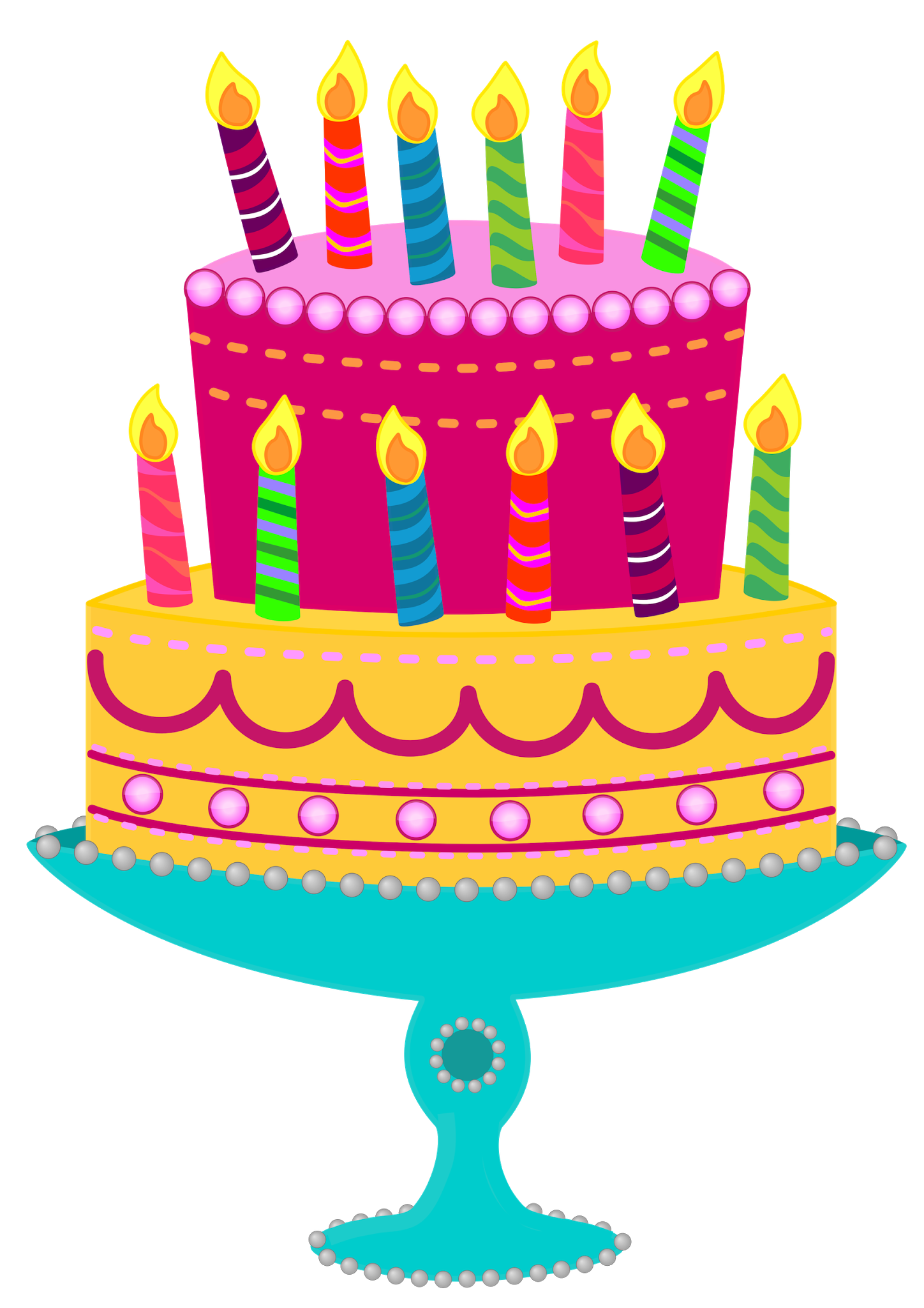 Free Cake Images Birthday Cake Clip Art Birthday Cake With Candles Birthday Cake Illustration