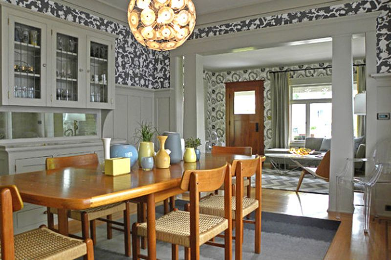 Charming Modern Craftsman Style Dining Room